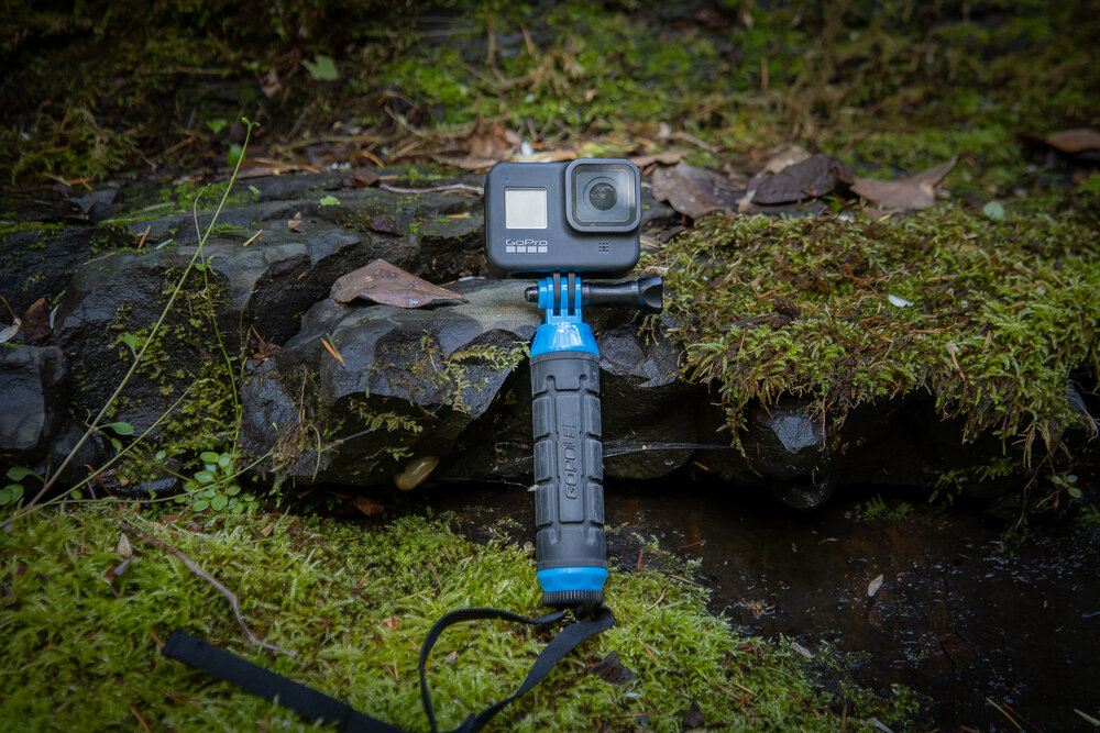 The GoPro Hero 8 Black is a very small camera great for hiking