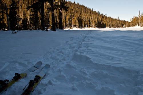Skiing back to Mount Washington