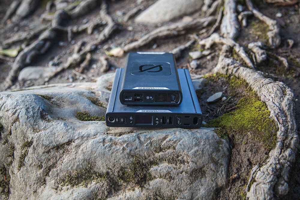 The Sherpa 100PD is smaller and lighter than the 100AC but with fewer ports.