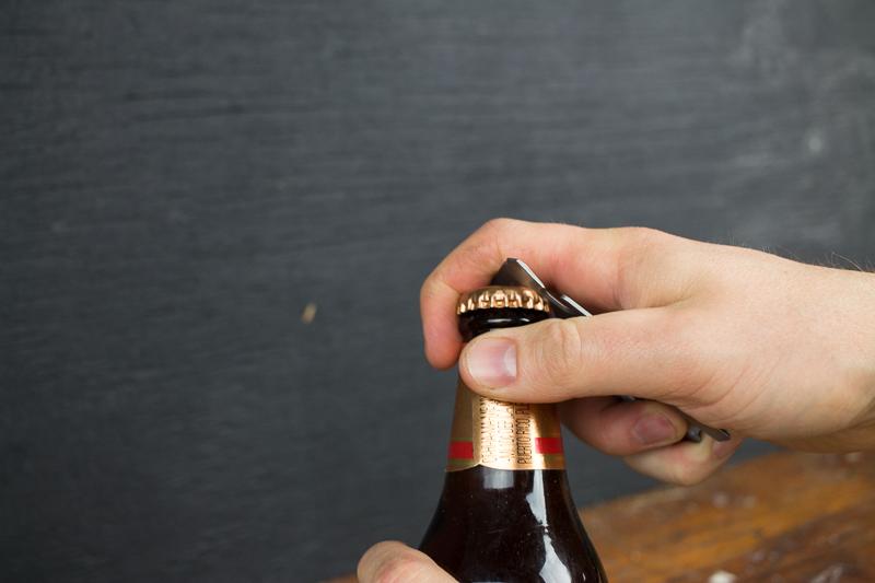 Lever Gear Toolcard using bottle opener