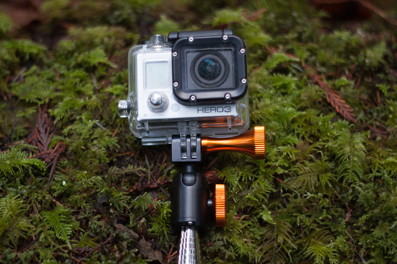 GoPro attached to the XShot Pro