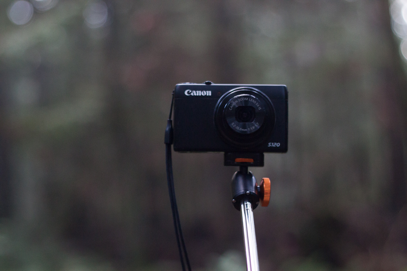 Canon S120 mounted to the XShot Pro
