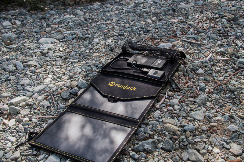 The SunJack battery can hold power for later