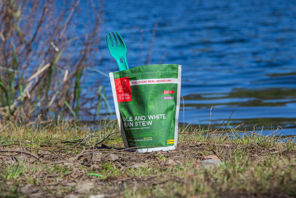 Morsel Spork XL fits well in backpacking food bags like the Good To-Go bags